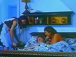 Busty maid threesome retro