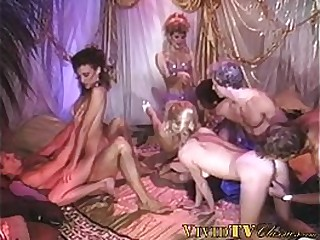 Vintage group orgy includes dick riding