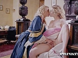 Sir Isaac Newton is at it again! Fine vintage pussies, Cherry Kiss & Alecia Fox, hike up their dresses for an intense anal filled threesome in the late 1600's! Full Flick & 100's More at Private.com!