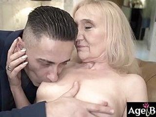 Nanney's vintage twat got a young cock