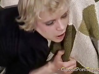 Classic porn with slutty maid getting screwed
