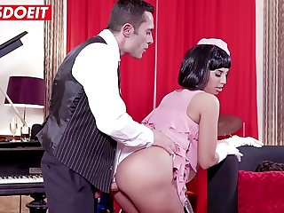 VIP SEX VAULT  Horny Teen Brunette Fucked Hard By Sugar Saddy
